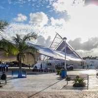 Central Cancun with tents in Quintana Roo, Mexico