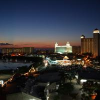 Cityscape of Cancun at Night in Quintana Roo, Mexico