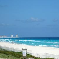 Seaside Landscape and scenery in Cancun, Mexico