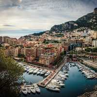 City side and docks and boats in Monaco