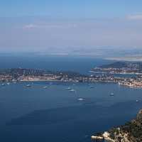 French Riveria with ocean and cities in Monaco