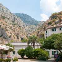 Old town section of Kotor in Montenegro