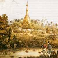 Shwedagon Pagoda in 1800s