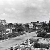 Rangoon Street View town scape in 1945