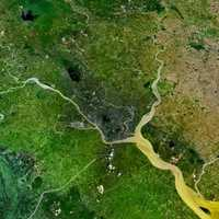 Yangon metropolitan area by Satellite
