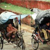 Covered Bicycle Transport in Kathmandu, Nepal