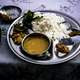 Dal bhat, a typical traditional food in Kathmandu, Nepal