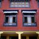 House windows in Kathmandu, Nepal