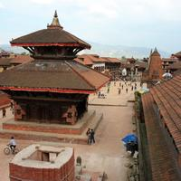 Old Temple in the city in Kathmandu, Nepal
