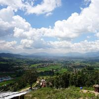 Sky and Clouds Over the Landscape in Kathmandu, Nepal