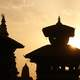 Temple in Kathmandu in the Sunset in Nepal
