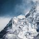 Everest Base Camp under snow in Nepal