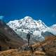 High Himalayan Mountain view at the Annapurna Base Camp in Nepal
