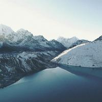 Landscape of Gokyo Lakes in Nepal