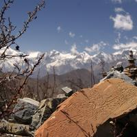 Ruins in the Mountains in Nepal