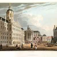 Royal Palace in Amsterdam in 1814 in the Netherlands