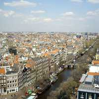 Urban Metro Cityscape of Amsterdam, Netherlands