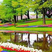 Garden of Europe in the Lisse, Netherlands