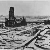Rotterdam after bombing of World War 2 in the Netherlands