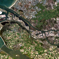 Satellite Image of Rotterdam and Port in the Netherlands