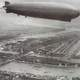 Zeppelin above Rotterdam, Netherlands in 1932