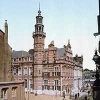 Old City Hall of The Hague, Netherlands in 1900.