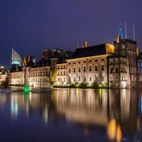 Parliament across the water at the Hague, Netherlands