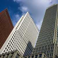Tall Towers in The Hague, Netherlands