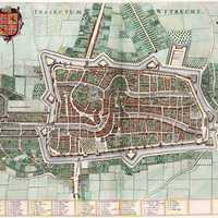 1652 Map of Utrecht, Netherlands