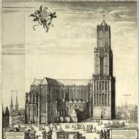 Utrecht Cathedral before the collapse of the nave, Netherlands