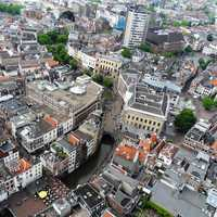 View of Utrecht, Netherlands from the DOM tower.