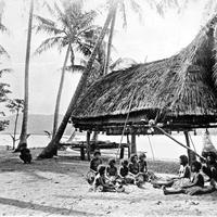 Natives at Mairy Pass in New Guinea in 1885