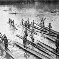 Papuans on the Lorentz River in New Guinea in 1912