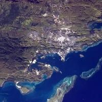 Satellite Image of Port Moresby, New Guinea
