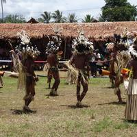 Traditional Dance with native people in New Guinea