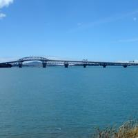 Harbour Bridge over the Bay in Auckland, New Zealand
