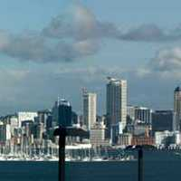 Panorma of the skyline of Auckland, New Zealand