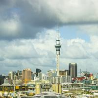 Skyline, sky, and clouds of Auckland, New Zealand