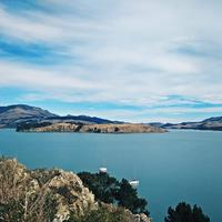 Landscape and water around Christchurch, New Zealand