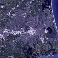 Satellite Image of Christchurch in New Zealand