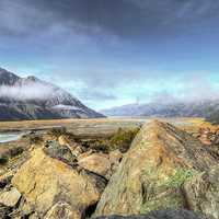 Tasman Valley Landscape in Mount Cook National Park