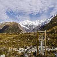 Beautiful Hooker Valley track landscape in Aoraki National Park