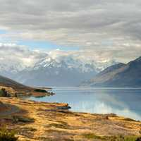 Lake Pukaki and Mount Cook in the Background
