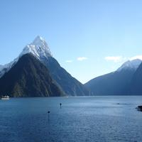 Milford Sound landscape in New Zealand