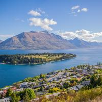 Overlook and Scenic landscape at Queenstown, New Zealand