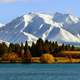 Snow Capped Peaks and Mountains landscape in New Zealand