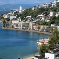 Buildings in Wellington Bay in New Zealand