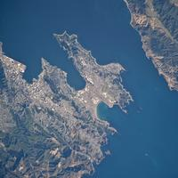 Satellite Image of Wellington, New Zealand