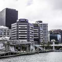 Waterfront cityscape of Wellington, New Zealand