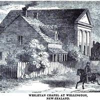 Wesleyan Chapel at Wellington, New Zealand in 1857